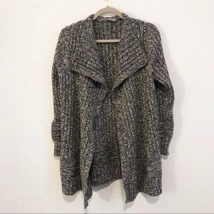 Athleta | Heavy Wool Grey Knit Cardigan XL